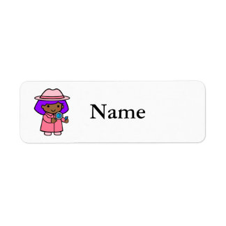Investigator girl 1 custom return address label
