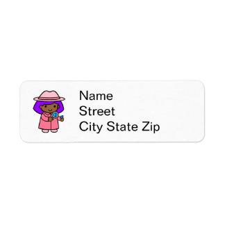 Investigator girl 1 custom return address labels