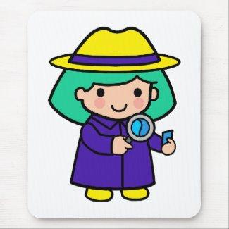 Investigator girl mousepad