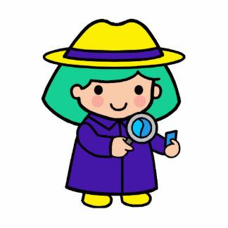 Investigator girl statuette