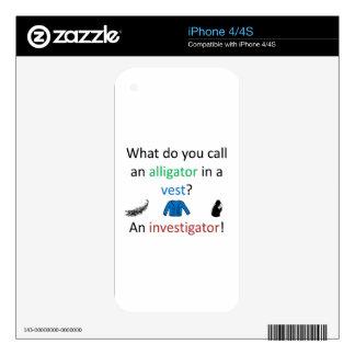 Investigator Joke Decals For The iPhone 4