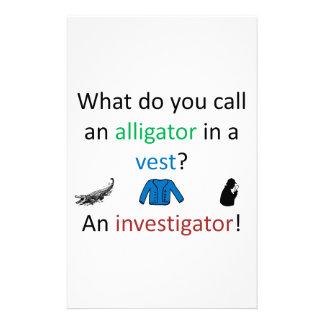 Investigator Joke Stationery