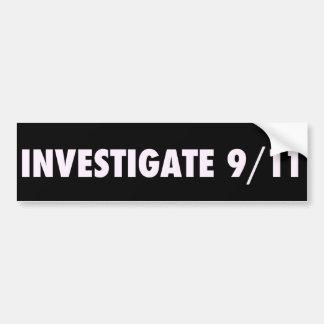 Investigue 911 Bumpersticker Pegatina Para Auto
