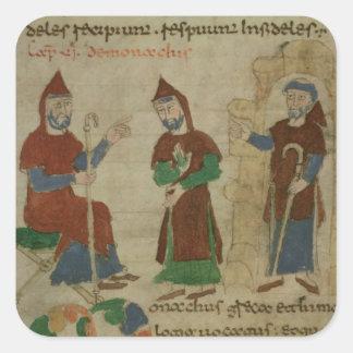 Investiture Benedictine Monk, from 'De Square Sticker