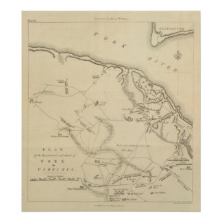 Investment and Attack of York in Virginia 2 Poster