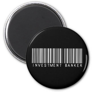 Investment Banker Bar Code 2 Inch Round Magnet