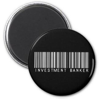Investment Banker Bar Code Magnet