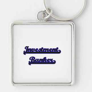 Investment Banker Classic Job Design Silver-Colored Square Keychain