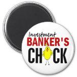 INVESTMENT BANKER'S CHICK REFRIGERATOR MAGNETS