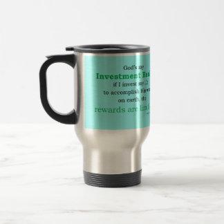 investment banker travel mug