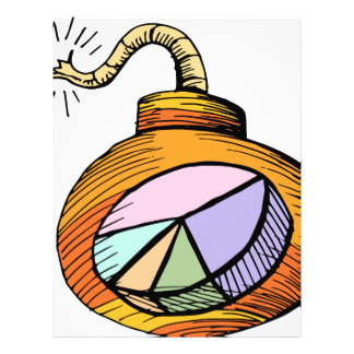 Investment Bomb Cartoon Letterhead