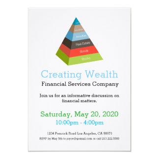 Investment Pyramid Chart Financial Invitation