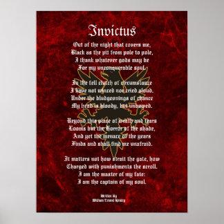 Invictus, águila del negro del poema del Victorian Posters