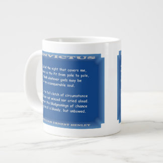 Invictus by William Ernest Henley 20 Oz Large Ceramic Coffee Mug