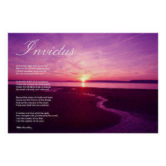 Invictus ~ Inspirational Poem Poster