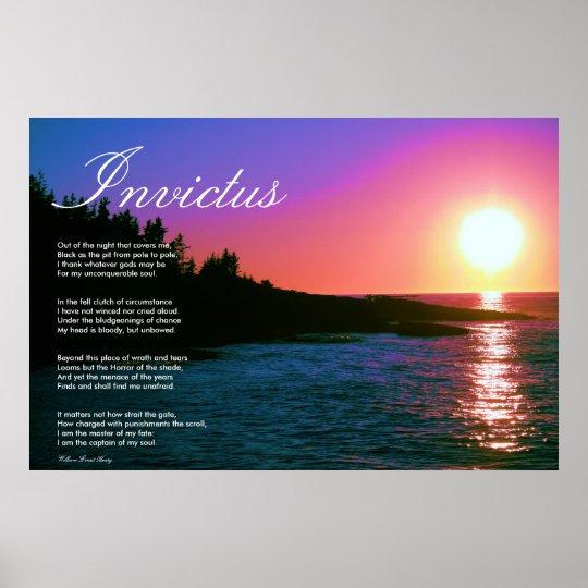 Invictus ~ Inspirational Poem. Poster
