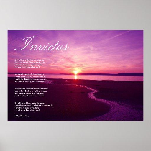 Invictus ~ Inspirational Poem Posters