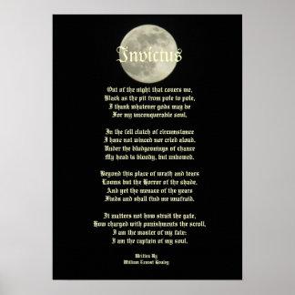 Invictus, poema del Victorian en la imagen de la l Póster