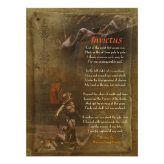 Invictus poema del Victorian Guillermo Ernesto H Posters