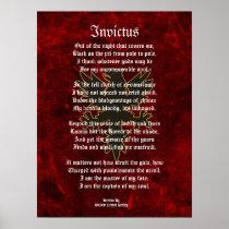 Invictus, Victorian poem black eagle Poster