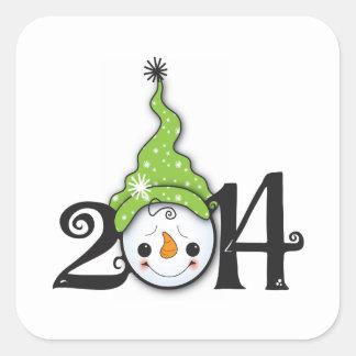 Invierno 2014 2 calcomanía cuadradas