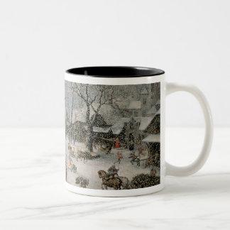 Invierno 2 taza de café de dos colores