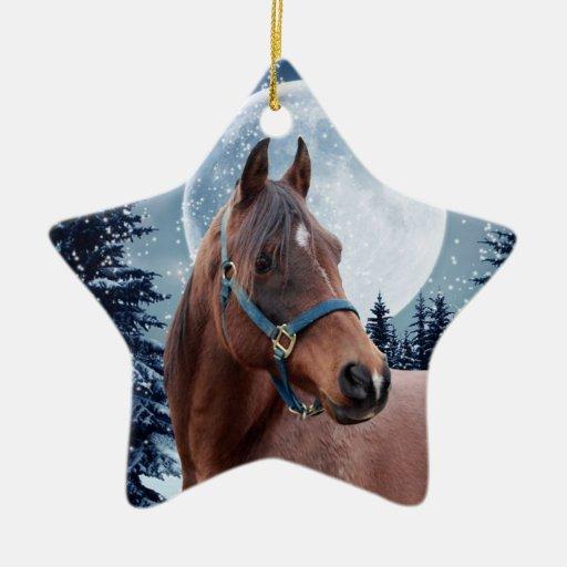 Invierno #3 árabe adorno navideño de cerámica en forma de estrella