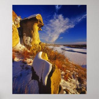 Invierno a lo largo del río Missouri cerca Posters