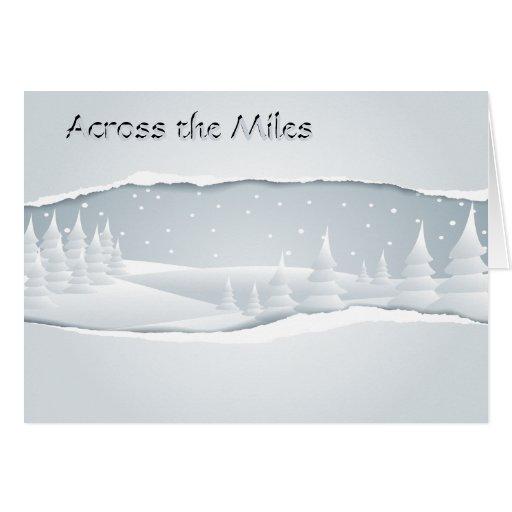 Invierno a través de las millas tarjetón
