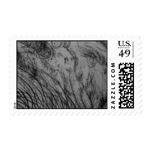 Invierno abstracto sello