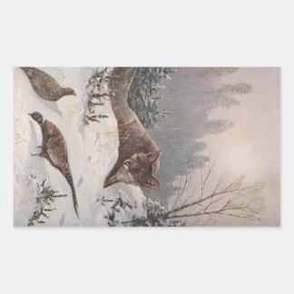 Invierno astuto de los faisanes de la caza de Fox Rectangular Altavoces