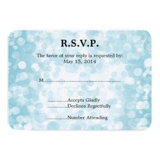 Invierno azul Bokeh que casa RSVP Invitación 8,9 X 12,7 Cm