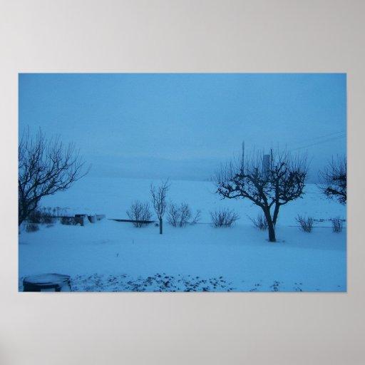Invierno azul impresiones
