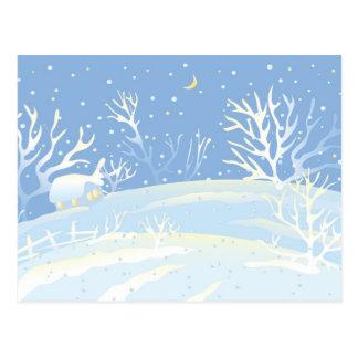 Invierno azul tarjetas postales