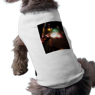 Invierno brillante playera sin mangas para perro