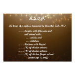 invierno Brown/estrellas de la tarjeta de contesta Invitaciones Personales