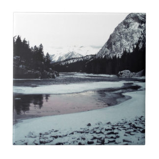 Invierno canadiense azulejo cuadrado pequeño
