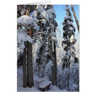 Invierno canadiense tarjeta de felicitación
