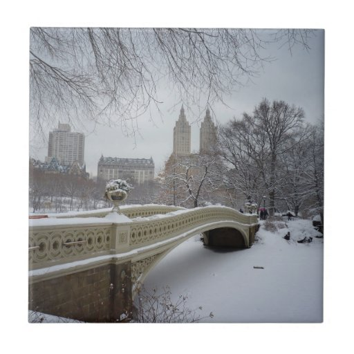 Invierno - Central Park - New York City Azulejo Ceramica