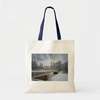 Invierno - Central Park - New York City Bolsa Tela Barata