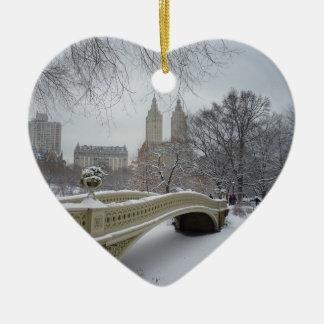 Invierno - Central Park - New York City Ornamentos De Reyes Magos