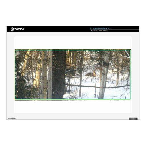 Invierno Comfort* de los ciervos el estimado ~ del Calcomanías Para 43,2cm Portátiles