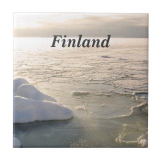 Invierno de Finlandia Azulejo Cuadrado Pequeño