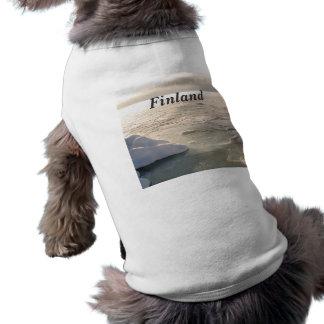 Invierno de Finlandia Camiseta De Perrito