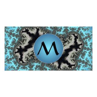 Invierno de Julia - hielo del fractal con el Tarjetas Con Fotos Personalizadas