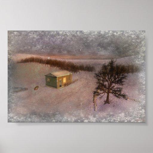 Invierno de la pradera - poster/impresión