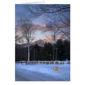 Invierno de la puesta del sol de Vermont de la che Felicitación