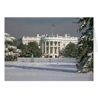 Invierno de la tarjeta/de la Casa Blanca