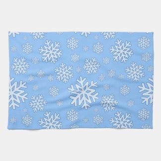 invierno de la toalla de cocina del copo de nieve