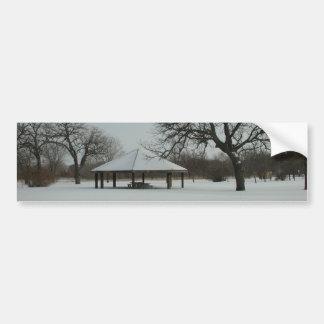 Invierno de Minnesota Pegatina De Parachoque